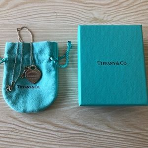 Tiffany & Co. Heart Necklace and RG Key Necklace